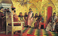 Le tsar Michel Ier à la session de Douma