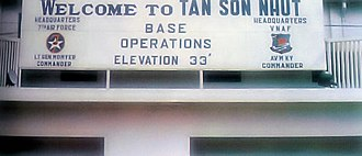 Seventh Air Force - Headquarter of Seventh Air Force in Tan Son Nhut Air Base, Saigon, Republic of Vietnam.