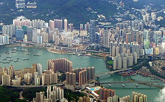 Tsuen Wan District - Day view of the Tsuen Wan District