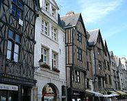 Tudor buildings in Tours, France