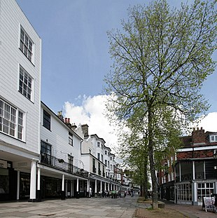 The Pantiles, the historic and tourist centre of the town