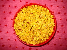 Split Pigeon pea, a common variety of lentils