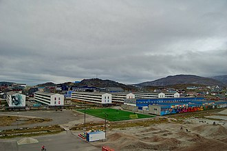 Greenland national football team - Image: Turf in Nuuk