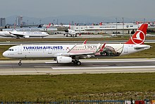 Turkish Airlines (The Year of Troy Livery), TC-JTP, Airbus A321-231 (43482222860).jpg