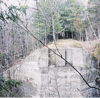 Tyranny of small decisions - Abutment of the Ithaca-Auburn Short Line bridge