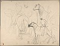 Two Men Resting by a Lake (recto); Studies for Soldiers Mounted on Horseback (verso) MET DP803712.jpg