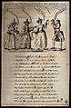 Two witches tell Macbeth that he will be King and another, h Wellcome V0025896.jpg