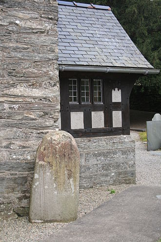 St Twrog's Church, Maentwrog - Twrog's Stone in St. Twrog's Church, Maentwrog