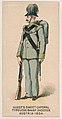 Tyrolese Sharp Shooter, Austria, 1854, from the Military Series (N224) issued by Kinney Tobacco Company to promote Sweet Caporal Cigarettes MET DPB874089.jpg
