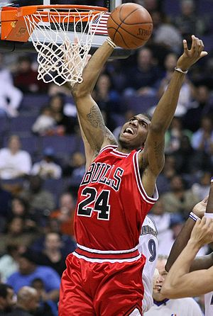 Tyrus Thomas - Thomas with the Chicago Bulls in February 2009.