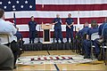 U.S. Coast Guard Vice Adm. Paul F. Zukunft, background left, commander of Coast Guard Pacific Area and Defense Force West, and Master Chief Petty Officer of the Coast Guard Michael P. Leavitt, background right 130425-G-VG516-046.jpg