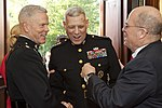 U.S. Marine Corps Gen. James F. Amos, left, the commandant of the Marine Corps and the host of the Evening Parade, speaks with Gen. John M. Paxton Jr., center, the assistant commandant, and a guest before 130531-M-KS211-071.jpg