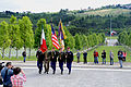 U.S. Soldiers, and one Italian service member carry U.S. and Italian flags during the Memorial Day ceremony at the Florence American Cemetery, Camp Darby, Italy, May 27, 2013 130527-A-II094-045.jpg