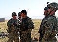 U.S. Soldiers with a security force advise and assist team and with the 2nd Platoon, Fox Company, 2nd Battalion, 506th Infantry Regiment, 4th Brigade Combat Team, 101st Airborne Division and the Afghan National 130530-A-DQ133-124.jpg