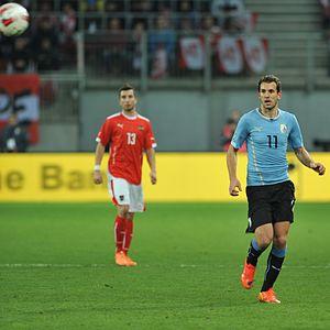 Cristhian Stuani - Stuani in action against Austria in 2014
