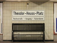 U2 Theodor-Heuss-Platz seat and sign.jpg