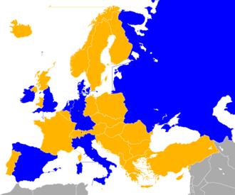 UEFA Euro 1988 qualifying - Image: UEFA Euro 1988 Qualifiers Map