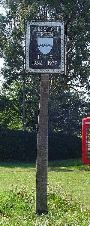 Burrough Green - Signpost in Burrough Green