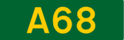 A68 road shield