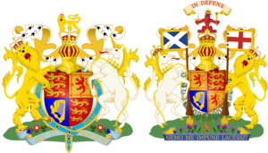 Royal coat of arms of the United Kingdom.