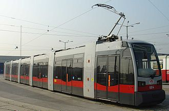 Electric vehicle - Electric tram in Vienna