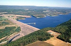 Beltzville State Park - Beltzville Dam, impounding Beltzville Lake in Beltzville State Park