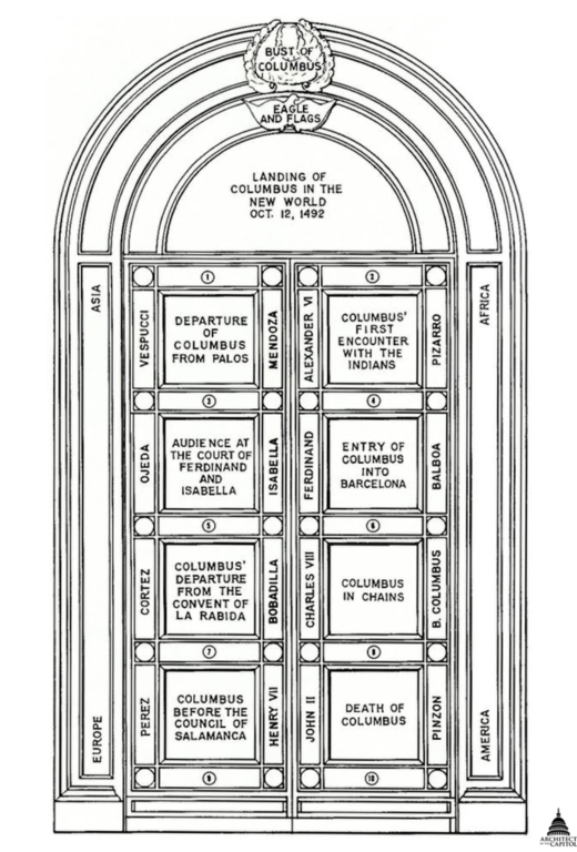 Other resolutions 162 × 240 pixels   325 × 480 pixels ...  sc 1 st  Wikimedia Commons & File:USA Capitol - Columbus Doors Drawing AOC.png - Wikimedia Commons