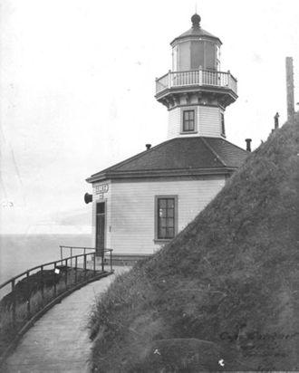 Cape Sarichef Light - Original 1904 Cape Sarichef lighthouse (USCG)