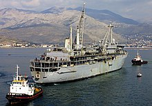 USS Emory S. Land (AS-39) at Gaeta, Italy, on 18 February 2004 (040218-N-4376H-014).jpg