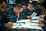 USS John C. Stennis Sailors take Navy-wide advancement exam 150903-N-DA737-030.jpg