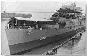 USS Lloyd (DE-209) in port, circa in early 1944