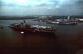 USS Saratoga (CV-60) arrives at Philadelphia Navy Yard for SLEP 1980.jpg