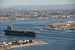 USS Theodore Roosevelt departs Naval Air Station North Island. (31391541830).jpg
