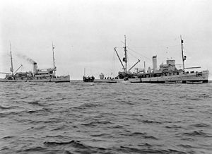 USS Wandank (AT-26) and USS Falcon (ASR-2)