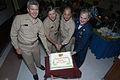 US Navy 030803-N-1573O-035 Leaders cut a ceremonial cake in honor of the late Senator John Cornelius Stennis' 102nd birthday on August 3, 2003.jpg