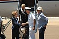 US Navy 040722-N-2636M-072 Former first Lady Nancy Reagan greets Captain Townsend G. Alexander, Commanding Officer of Naval Air Station North Island, upon her arrival to San Diego.jpg