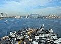 US Navy 081010-N-8327R-078 The amphibious assault ship USS Peleliu (LHA 5) navigates Sydney Harbor as the ship arrives for a scheduled port visit.jpg