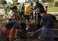 US Navy 081122-N-9584N-001 Construction Mechanic Constructionman Recruit Gerrett Meyer and Construction Mechanic Constructionman Recruit Scotty Williams work with students from Cesar Chavez Middle School during a community rela.jpg