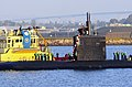 US Navy 081203-N-8878B-003 USS Ashville (SSN 758) pulls into its homeport of Naval Base Point Loma after a six-month deployment.jpg