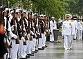 US Navy 090604-N-8273J-118 Chief of Naval Operations (CNO) Adm. Gary Roughead inspects members of the Navy and Marine Corps ceremonial guard during the Battle of Midway Commemoration Ceremony at the Navy Memorial in Washington.jpg
