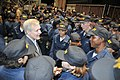 US Navy 090716-N-8848T-514 Secretary of the Navy (SECNAV) the Honorable Ray Mabus, left, congratulates recruits at Recruit Training Command (RTC).jpg