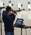 US Navy 110212-N-FO977-357 Navy Junior Reserve Officers Training Corps cadet and sporter division individual champion, Renz Ibarra, sets his sights.jpg