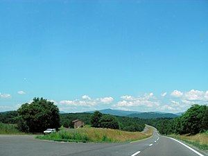 Rappahannock County, Virginia - U.S. Route 211 as it passes through Rappahannock County; the Blue Ridge Mountains can be seen in the distance.