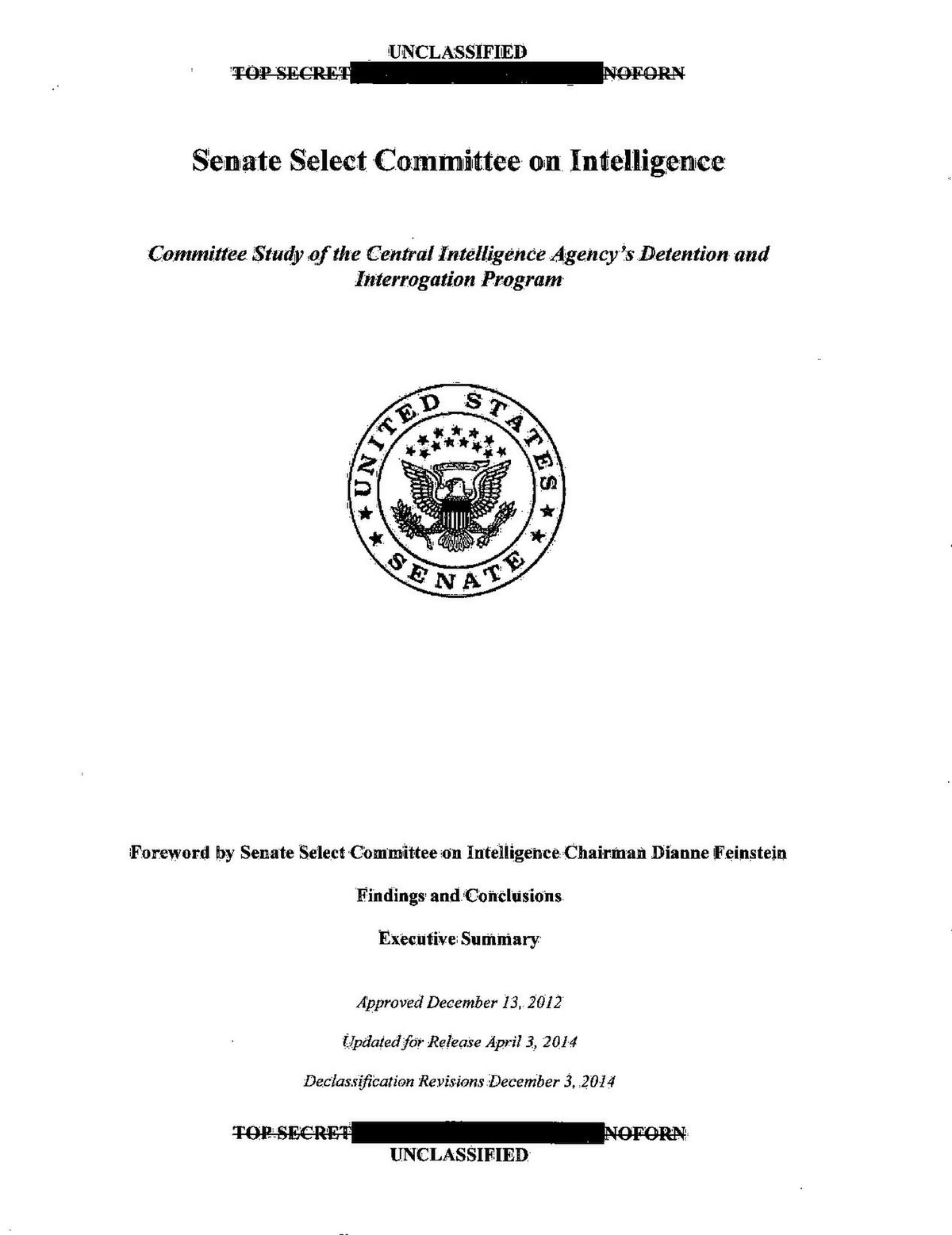 senate intelligence committee report on cia torture