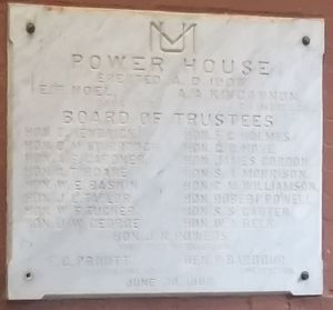 University of Mississippi Power House - Image: U Miss Power House Cornerstone