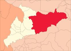 Lokalizacja okręgu w prowincji Huamalíes