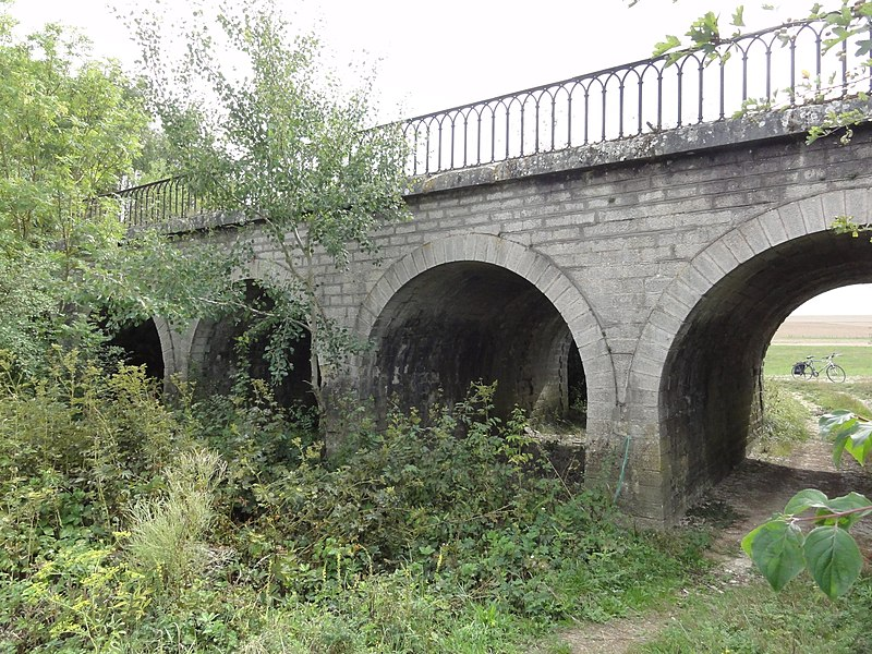 Ugny-sur-Meuse (Meuse) ancien chemin de fer (06) viaduc 4 arcs