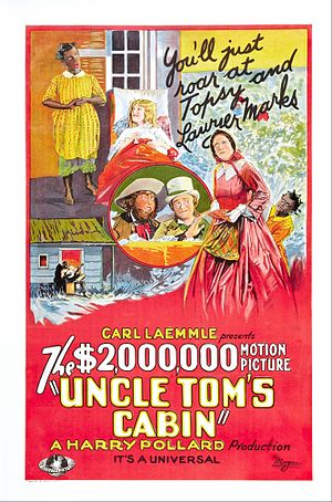 Uncle Tom's Cabin (1927 film) - Film poster