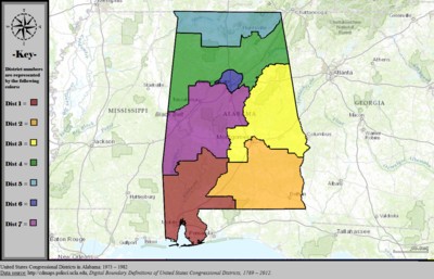 Alabama39s Congressional Districts  Wikipedia