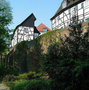 Unna - Part of the medieval town wall
